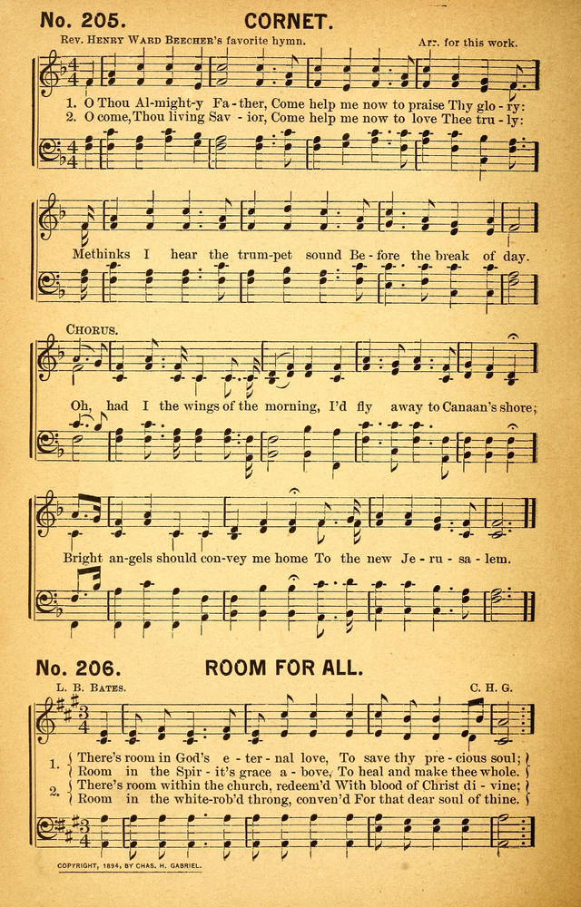 Songs of the Pentecost for the Forward Gospel Movement page 204