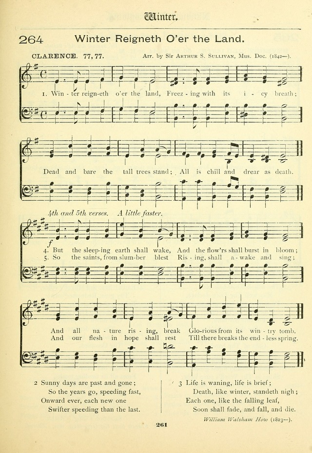 School and Parish Hymnal: with tunes page 262