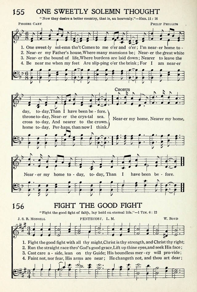 All Music Chords one sweet day sheet music : Seth Parker's Hymnal 156. Fight the good fight with all thy might ...