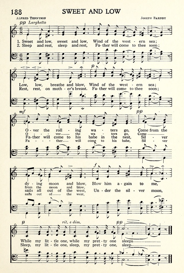 Sweet and low, sweet and low, wind of the western sea   Hymnary.org