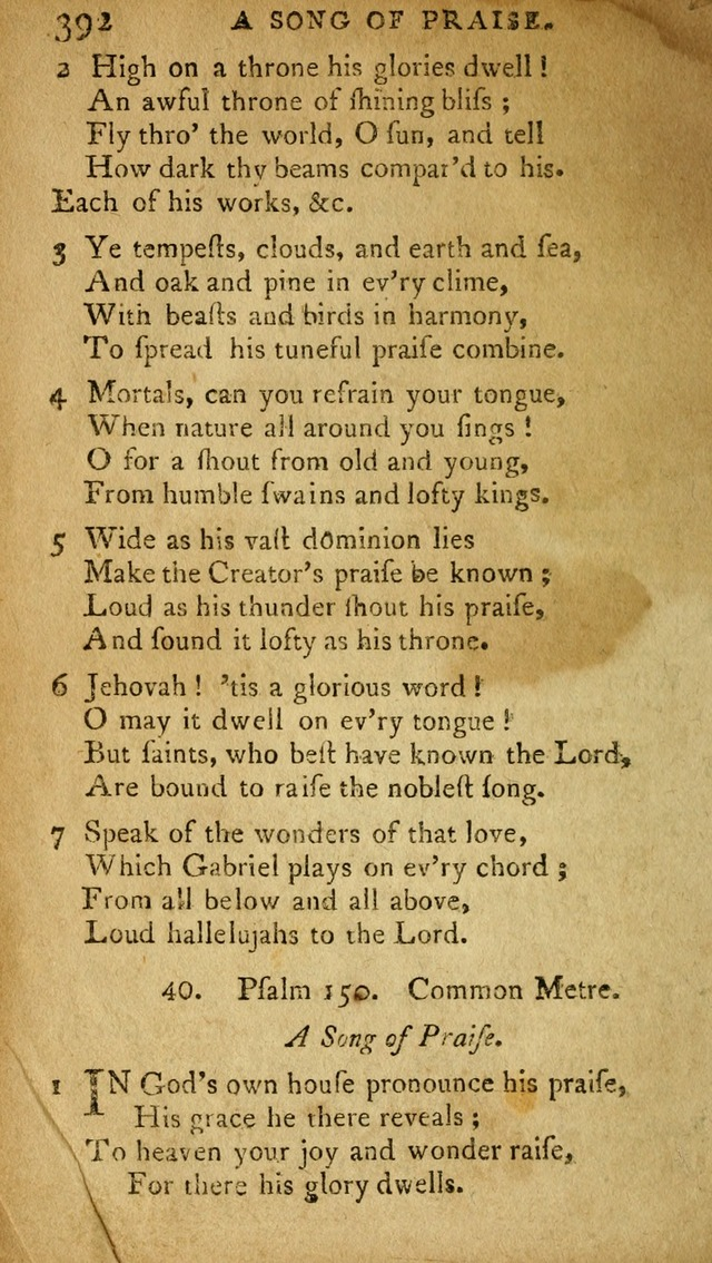 A Selection of Psalms and Hymns: done under appointment of the Philadelphian Association (2nd ed) page 410