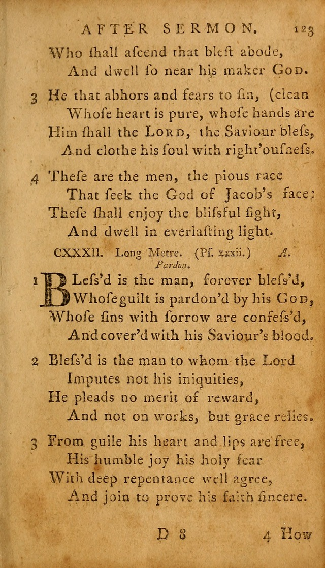 A Selection of Psalms and Hymns: done under the appointment of  the Philadelphian Association page 123