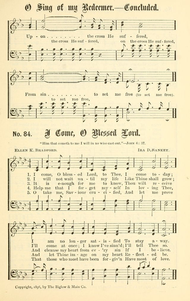 Sacred Songs No. 1: compiled and arranged for use in gospel meetings, Sunday schools, prayer meetings and other religious services page 85