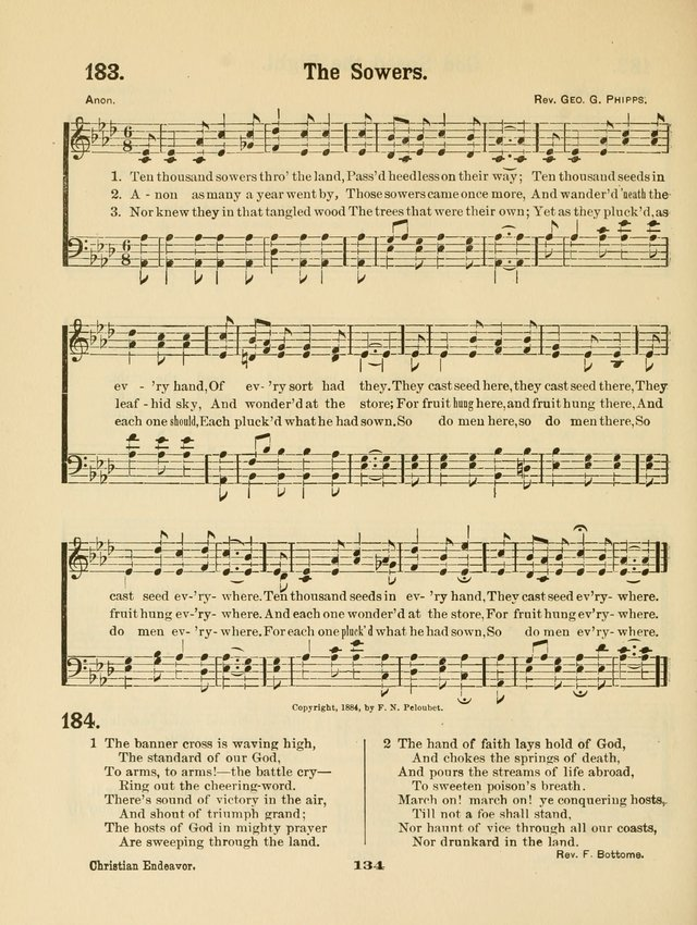 Select Songs No. 2: for the singing service in the prayer meeting; Sunday school; Christian Endeavor meetings page 134