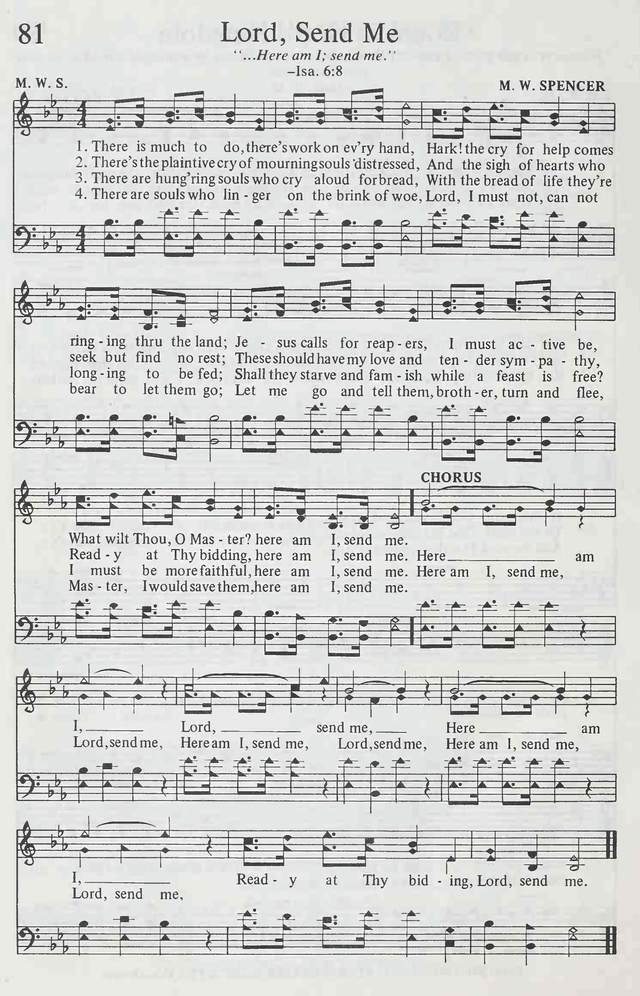 Lord Send Me Hymnary Org Here i am lord, is it i lord? lord send me hymnary org