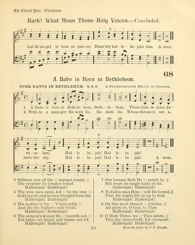 Sunday-School Book: with music: for the use of the Evangelical Lutheran congregations (Rev. and Enl.) page 163