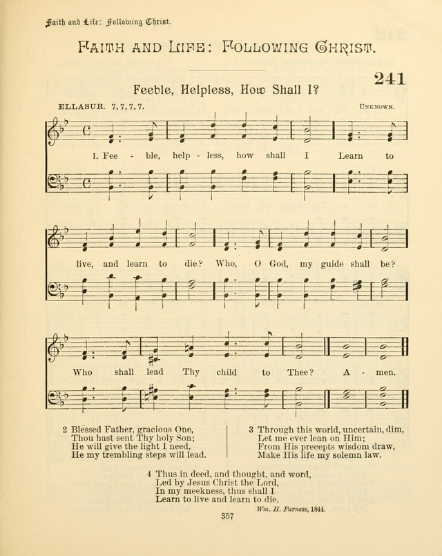 Sunday-School Book: with music: for the use of the Evangelical Lutheran congregations (Rev. and Enl.) page 359