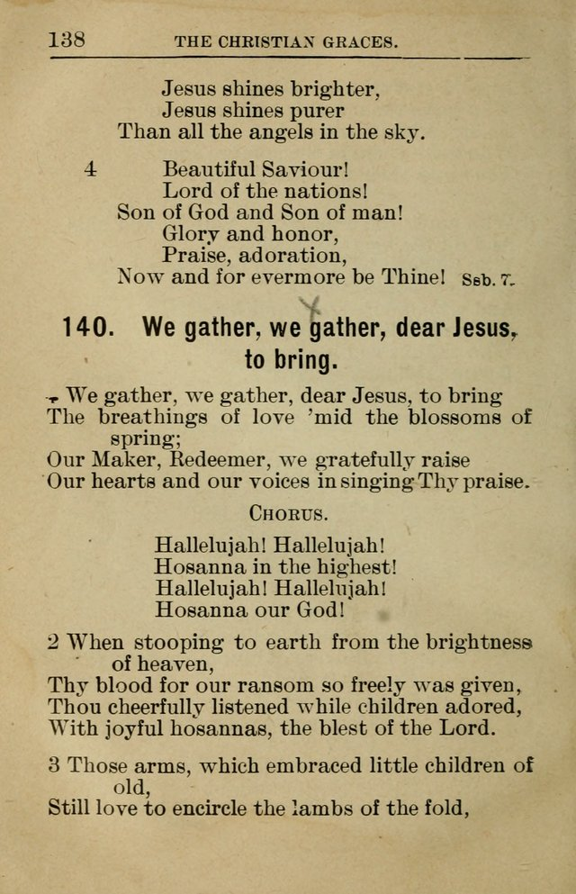 Sunday School Book: containing liturgy and hymns for the Sunday School (Rev. and Enl. Ed.) page 140