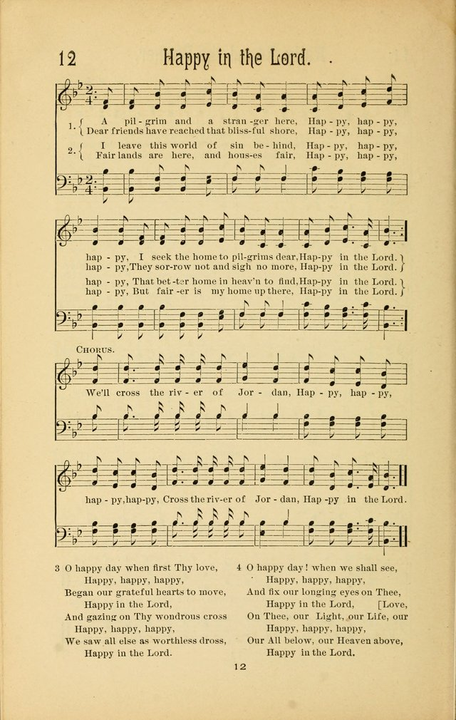 Songs and Solos used by the Christian Crusaders in their Special Soul-Saving Work: and adapted for the church, grove, school, choir, and home page 11