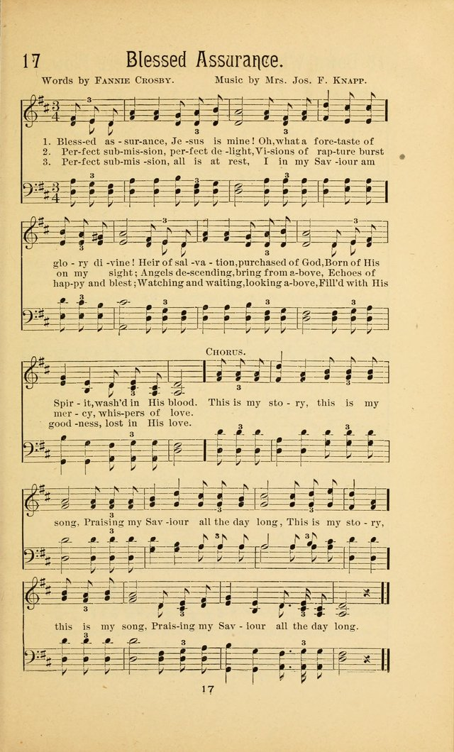 Songs and Solos used by the Christian Crusaders in their Special Soul-Saving Work: and adapted for the church, grove, school, choir, and home page 16