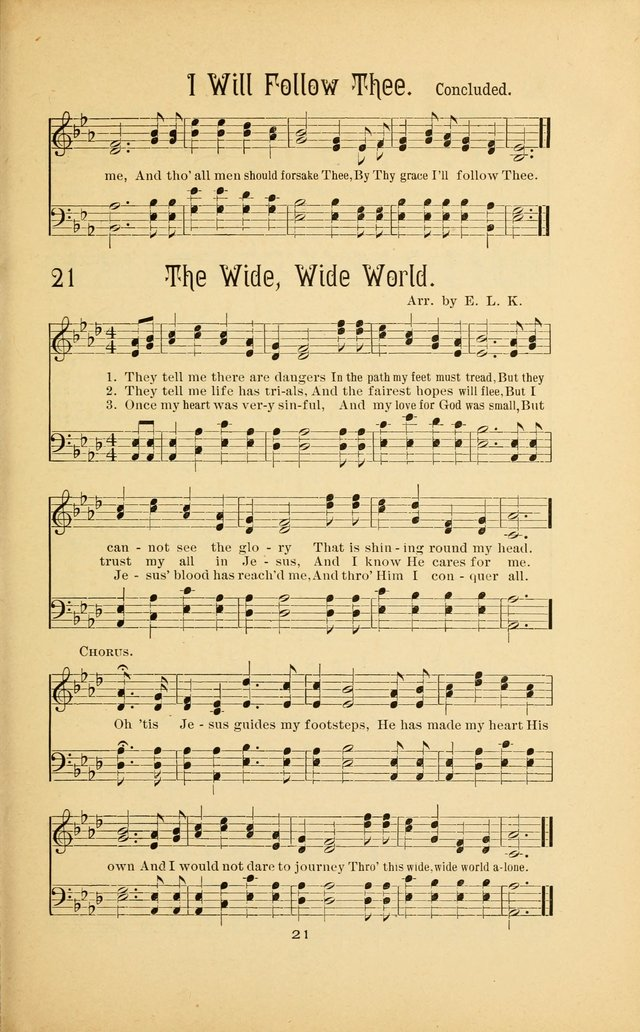Songs and Solos used by the Christian Crusaders in their Special Soul-Saving Work: and adapted for the church, grove, school, choir, and home page 20