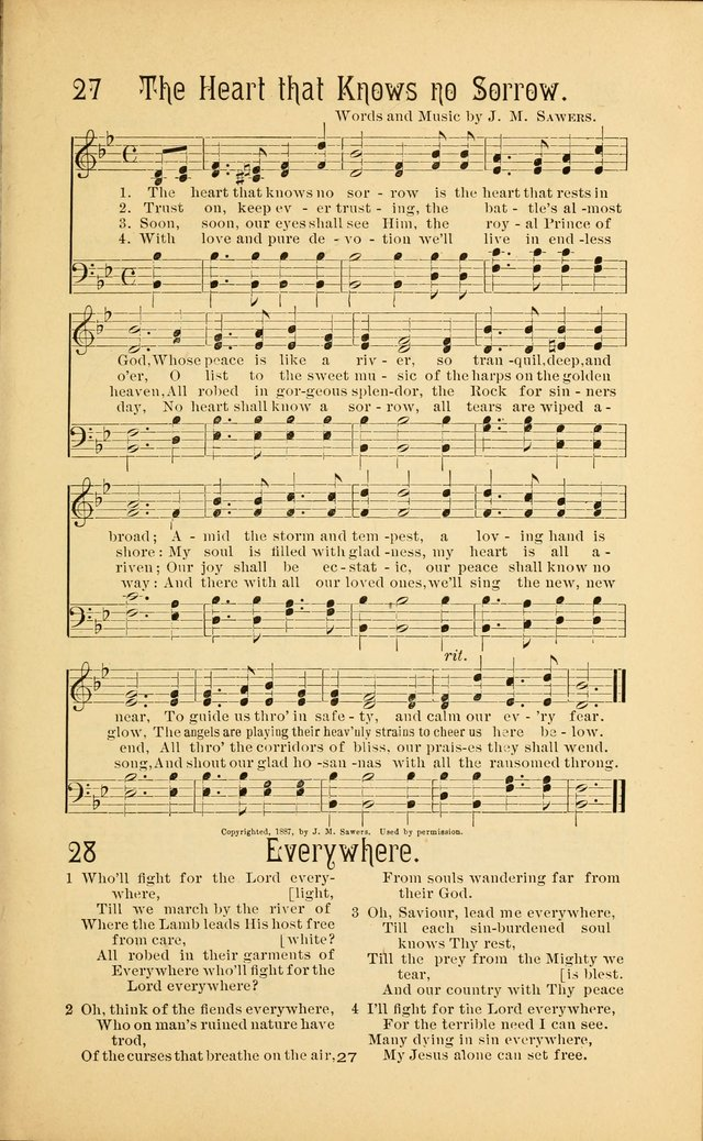 Songs and Solos used by the Christian Crusaders in their Special Soul-Saving Work: and adapted for the church, grove, school, choir, and home page 26