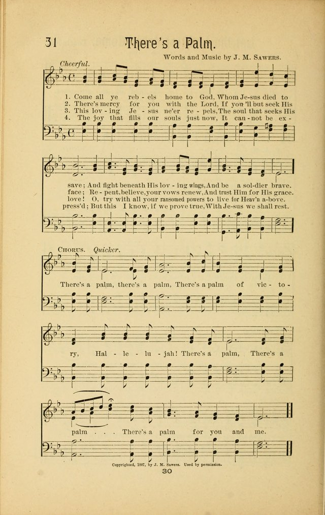 Songs and Solos used by the Christian Crusaders in their Special Soul-Saving Work: and adapted for the church, grove, school, choir, and home page 29