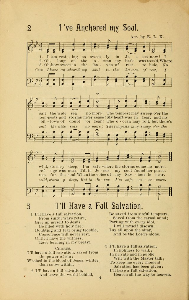Songs and Solos used by the Christian Crusaders in their Special Soul-Saving Work: and adapted for the church, grove, school, choir, and home page 3