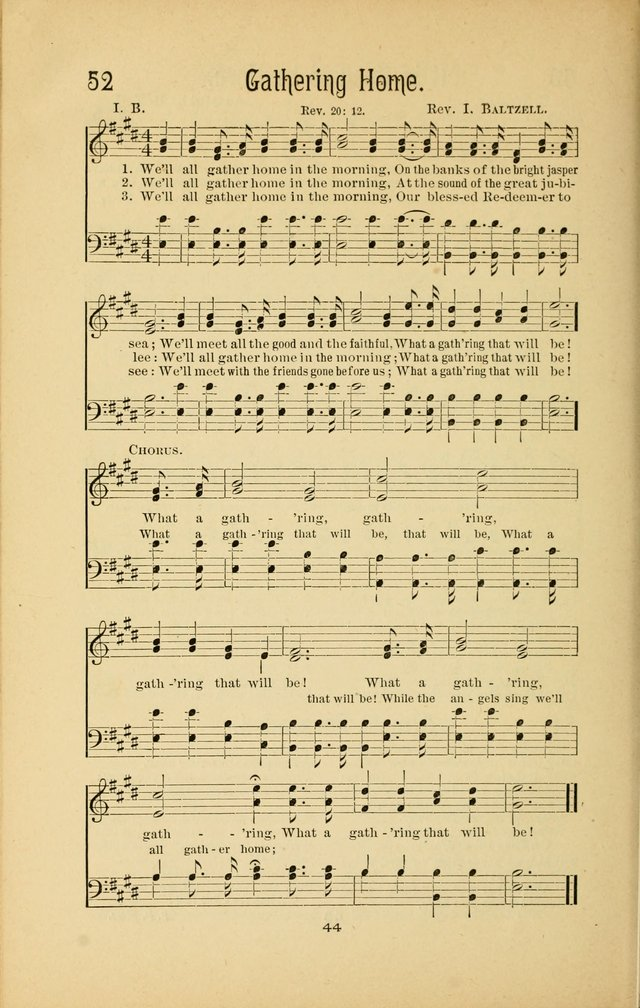 Songs and Solos used by the Christian Crusaders in their Special Soul-Saving Work: and adapted for the church, grove, school, choir, and home page 43