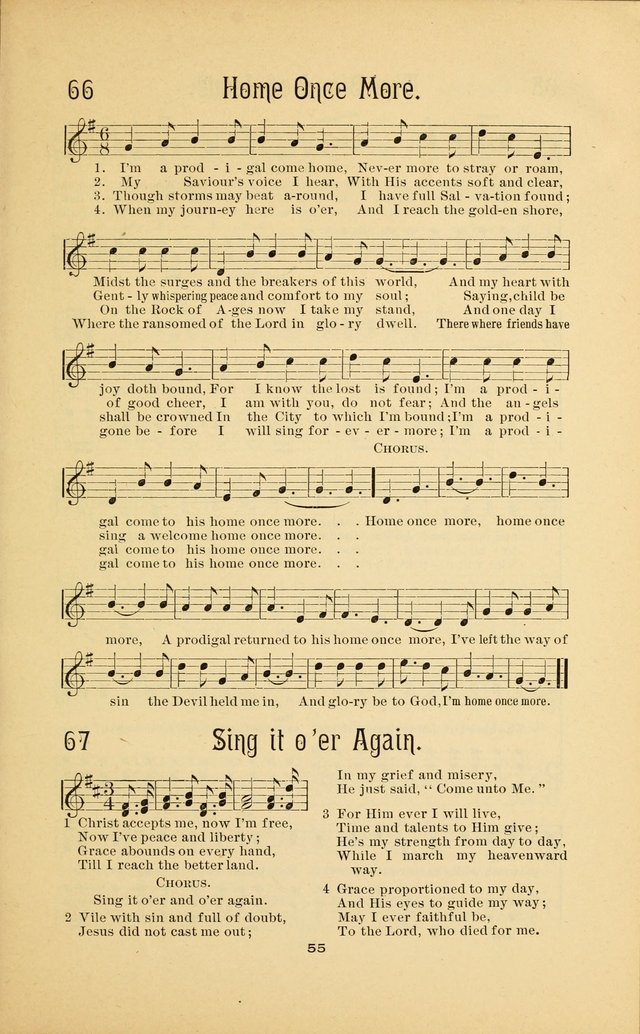 Songs and Solos used by the Christian Crusaders in their Special Soul-Saving Work: and adapted for the church, grove, school, choir, and home page 54
