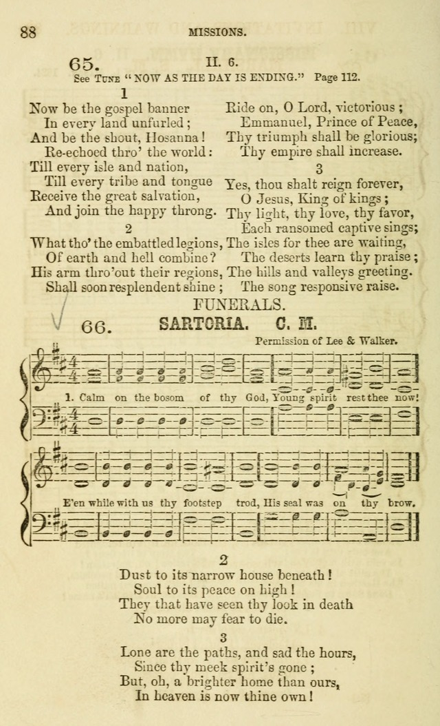 The Sunday School Chant and Tune Book: a collection of canticles, hymns and carols for the Sunday schools of the Episcopal Church page 88