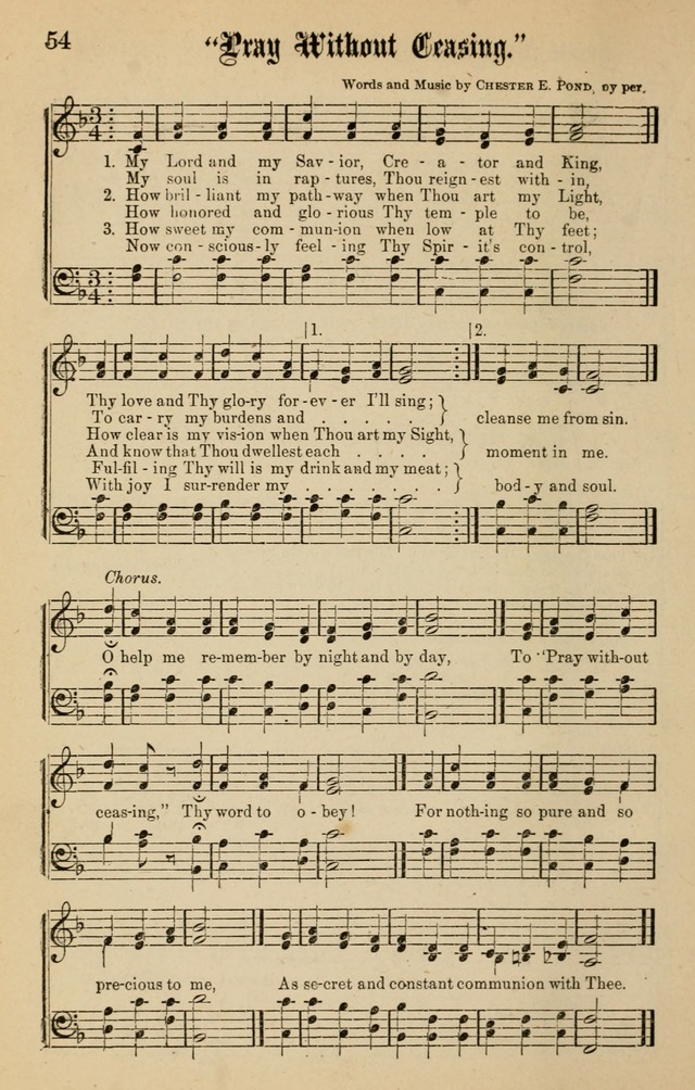 Spiritual Songs for Gospel Meetings and the Sunday School page 52