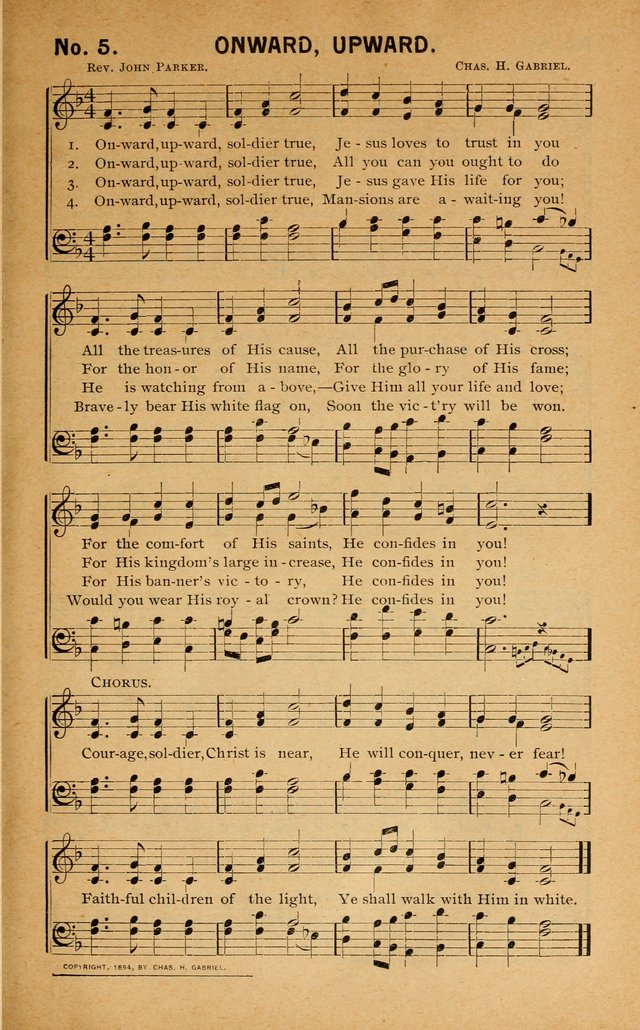 Salvation Songs: for gospel meetings, Endeavor Societies, Epworth Leagues, Baptist Unions, Sunday schools and prayer meetings page 6