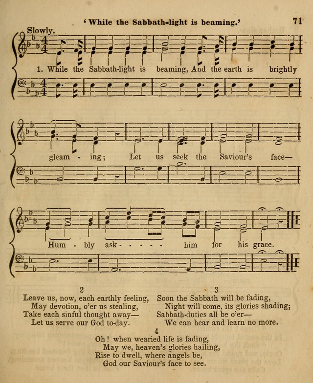 The Sabbath School Harp: being a selection of tunes and hynns, adapted to the wants of Sabbath schools, families, and social meetings (2nd ed.) page 73