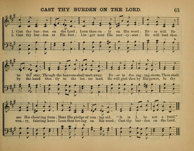 The Sunday School Hymnal: a collection of hymns and music for use in Sunday school services and social meetings page 63