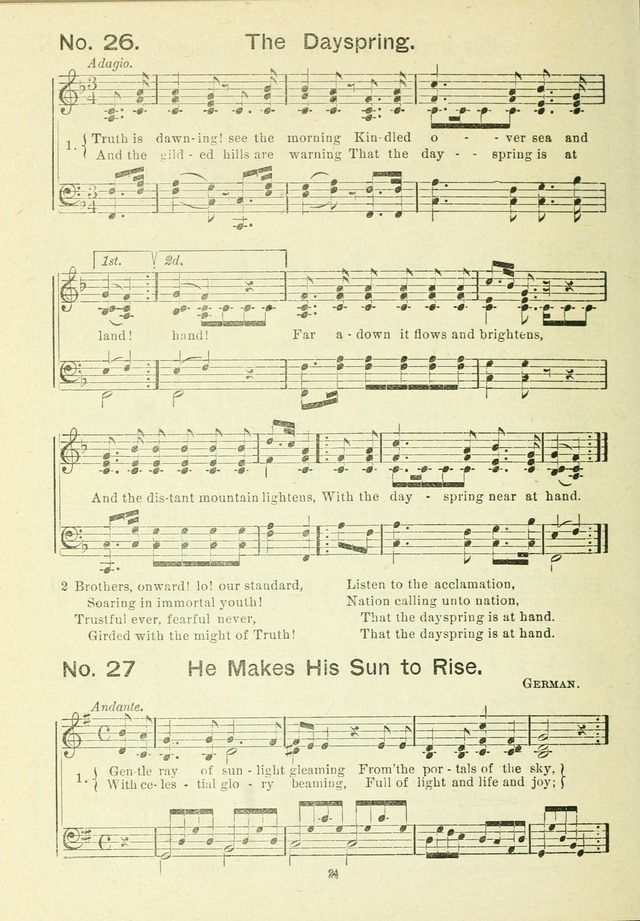 The Sabbath School Hymnal, a collection of songs, services and responses for Jewish Sabbath schools, and homes 4th rev. ed. page 25