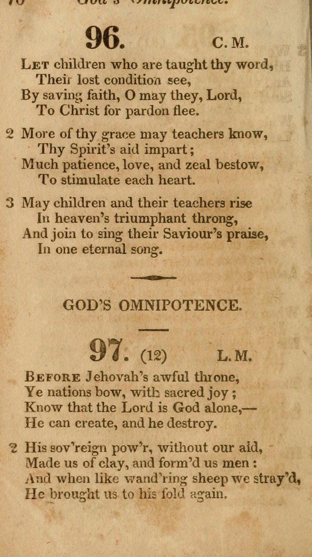 Sunday School Hymn Book. (19th ed) page 70