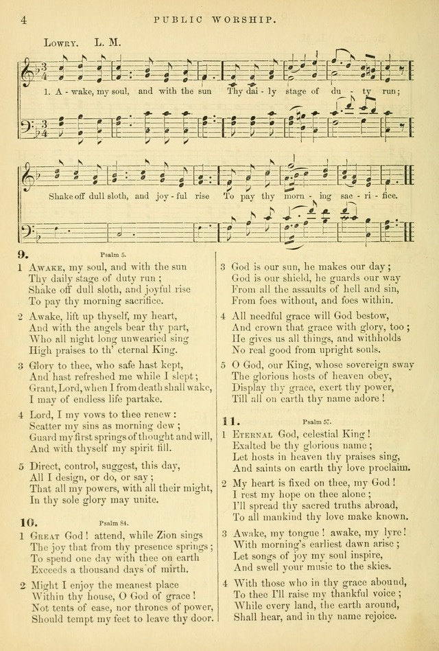 Songs for the Sanctuary: or hymns and tunes for Christian worship page 4
