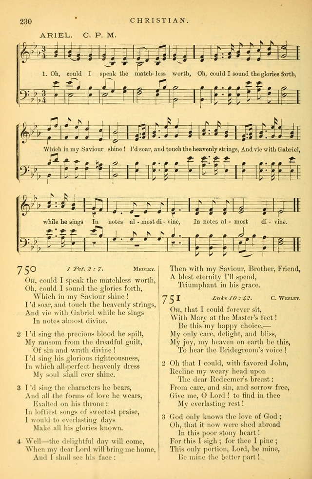 Songs for the Sanctuary: or hymns and tunes for Christian Worship page 231