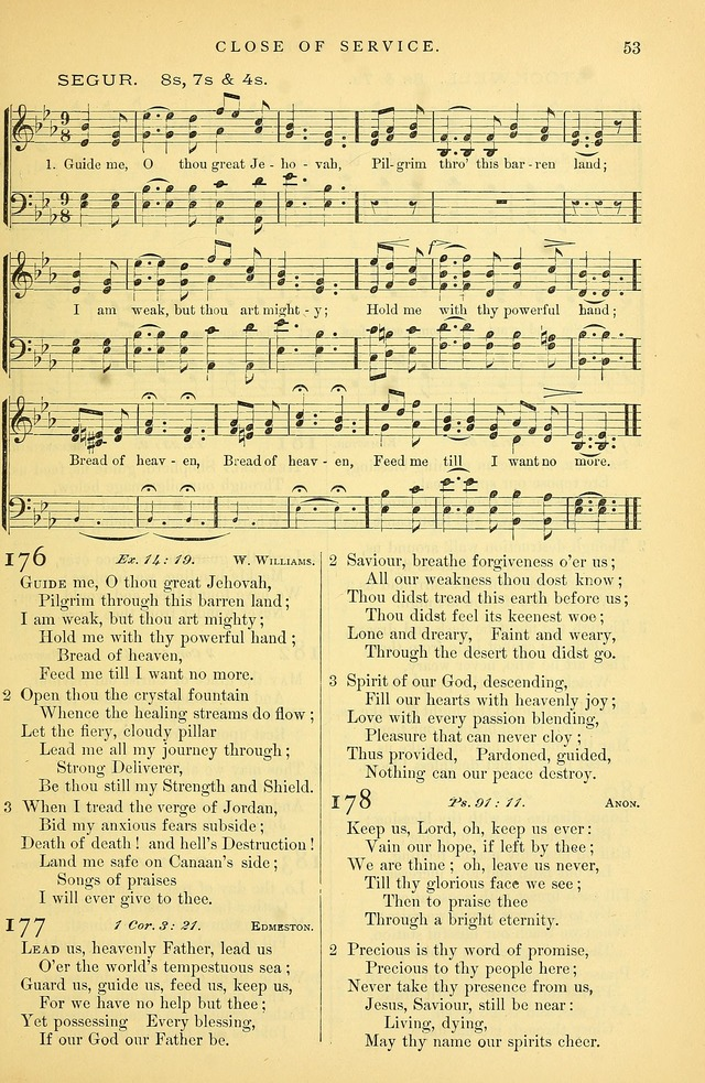Songs for the Sanctuary: or hymns and tunes for Christian Worship page 54