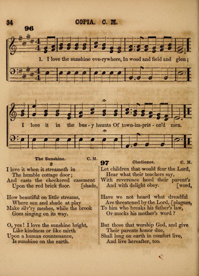 The Sabbath School Lute: a selection of hymns and appropriate melodies, adapted to the wants of Sabbath schools, families and social meetings page 34