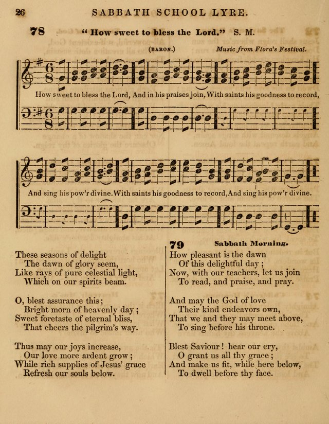 The Sabbath School Lyre: a collection of hymns and music, original and selected, for general use in sabbath schools page 26