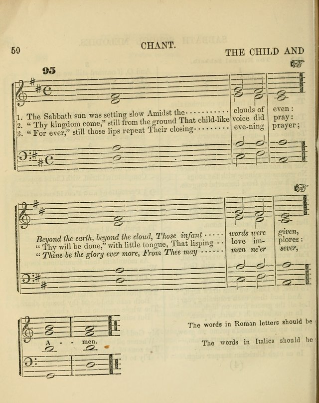 The Sabbath School Melodist: being a selection of hymns with appropriate music; for the use of Sabbath schools, families and social meetings page 50