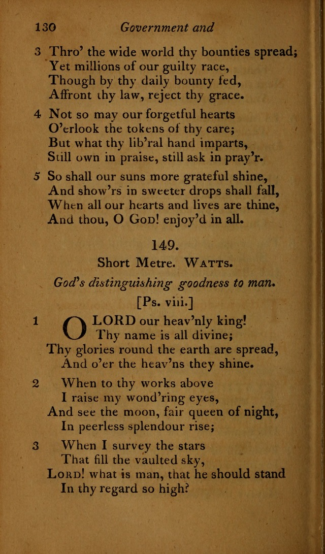 A Selection of Sacred Poetry: consisting of psalms and hymns, from Watts, Doddridge, Merrick, Scott, Cowper, Barbauld, Steele ...compiled for  the use of the Unitarian Church in Philadelphia page 130