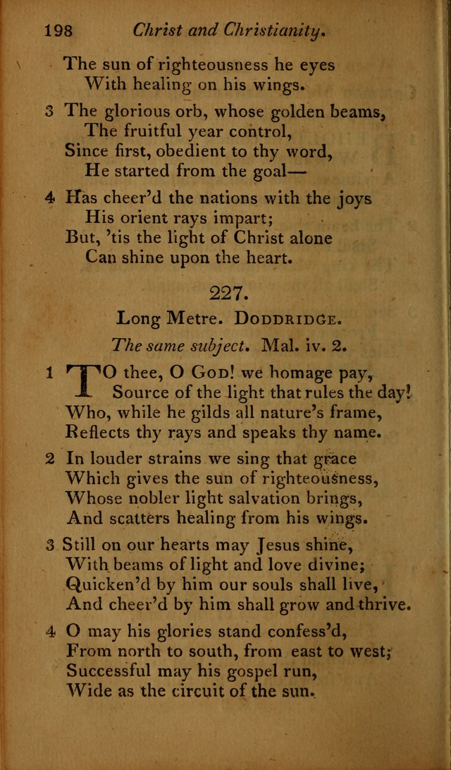 A Selection of Sacred Poetry: consisting of psalms and hymns, from Watts, Doddridge, Merrick, Scott, Cowper, Barbauld, Steele ...compiled for  the use of the Unitarian Church in Philadelphia page 198