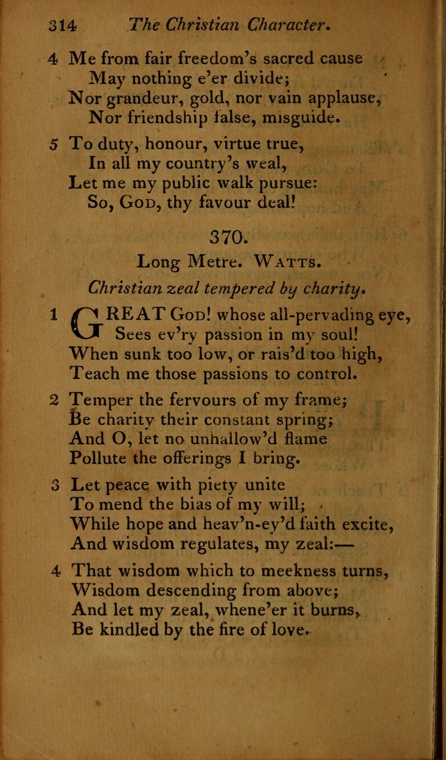 A Selection of Sacred Poetry: consisting of psalms and hymns, from Watts, Doddridge, Merrick, Scott, Cowper, Barbauld, Steele ...compiled for  the use of the Unitarian Church in Philadelphia page 314