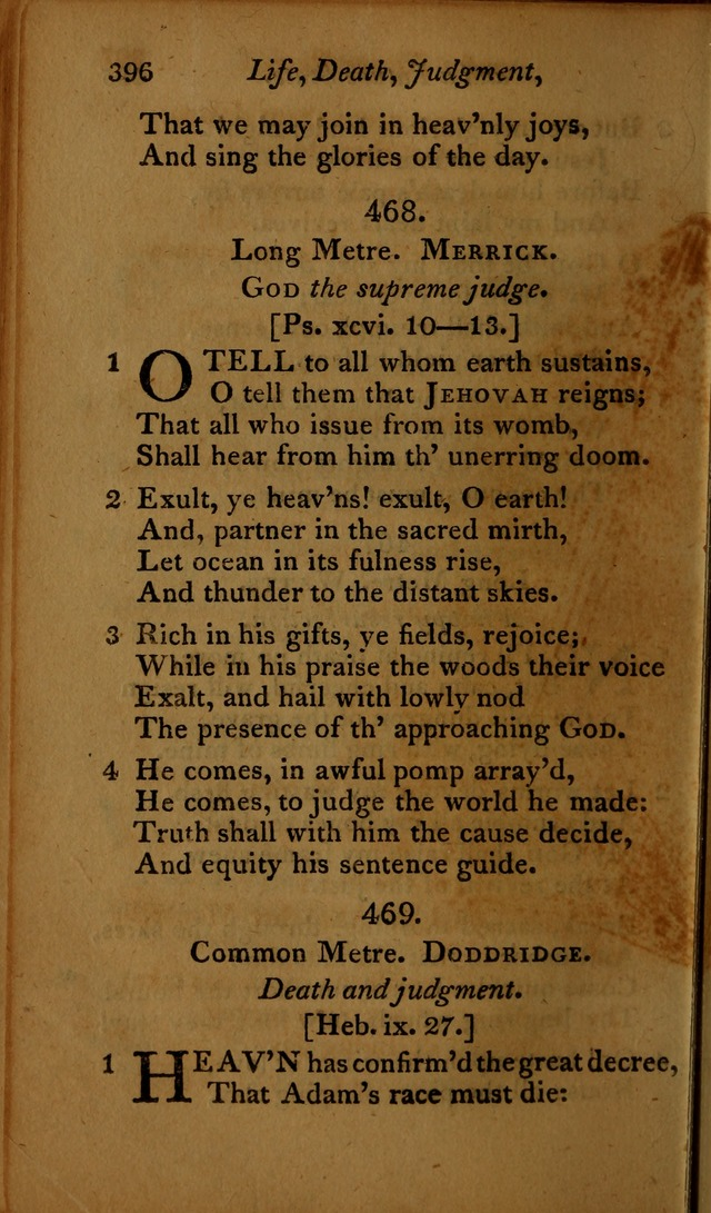 A Selection of Sacred Poetry: consisting of psalms and hymns, from Watts, Doddridge, Merrick, Scott, Cowper, Barbauld, Steele ...compiled for  the use of the Unitarian Church in Philadelphia page 396