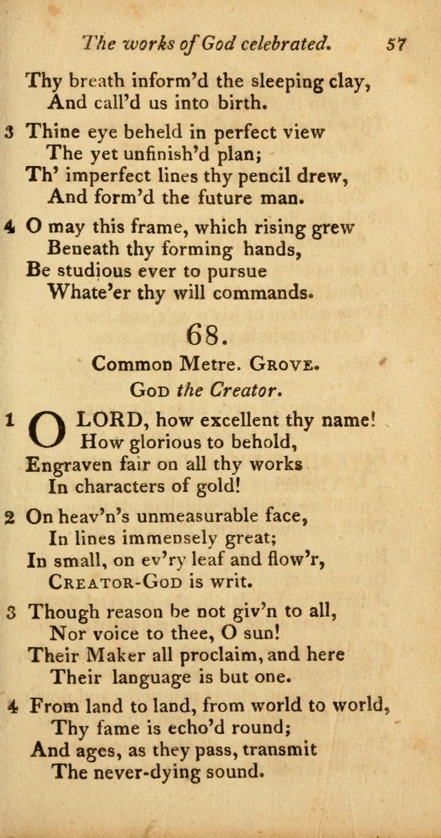 A Selection of Sacred Poetry: consisting of psalms and hymns from Watts, Doddridge, Merrick, Scott, Cowper, Barbauld, Steele, and others (2nd ed.) page 57
