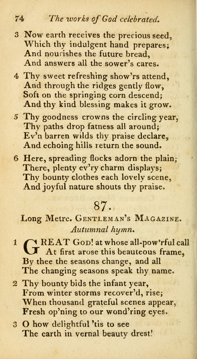 A Selection of Sacred Poetry: consisting of psalms and hymns from Watts, Doddridge, Merrick, Scott, Cowper, Barbauld, Steele, and others (2nd ed.) page 74