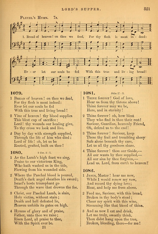 Songs for the Sanctuary; or Psalms and Hymns for Christian Worship (Baptist Ed.) page 322