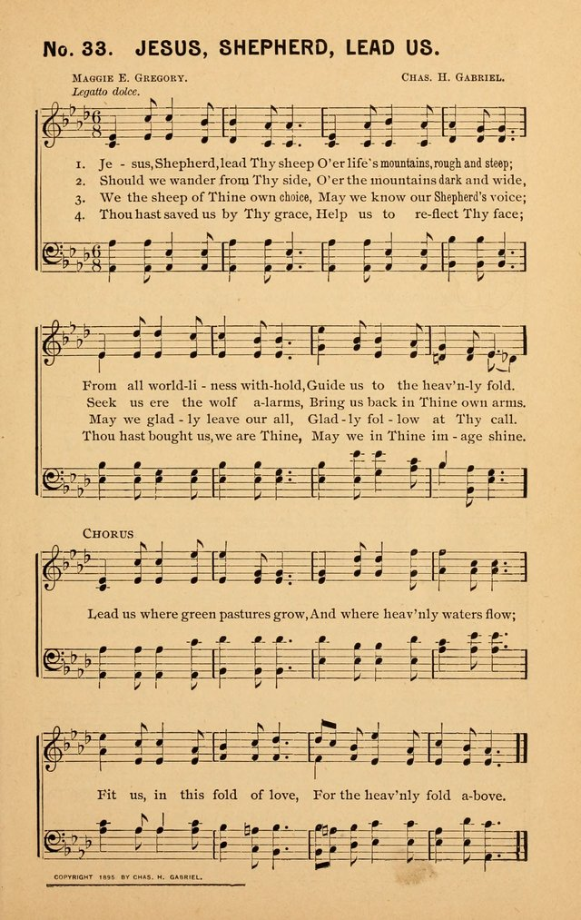 Sunshine: songs for Sunday schools page 33