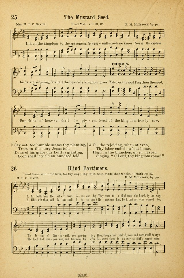 The Standard Sunday School Hymnal page 22