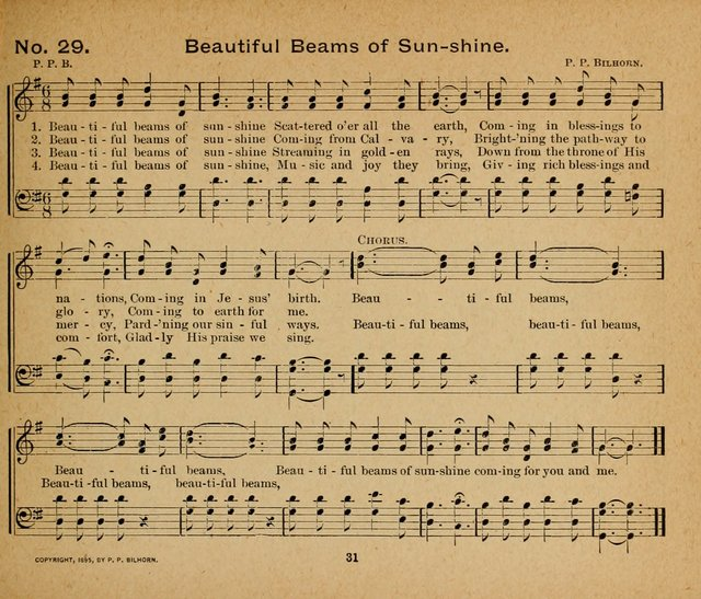Sun-Shine Songs for the Sunday School page 31