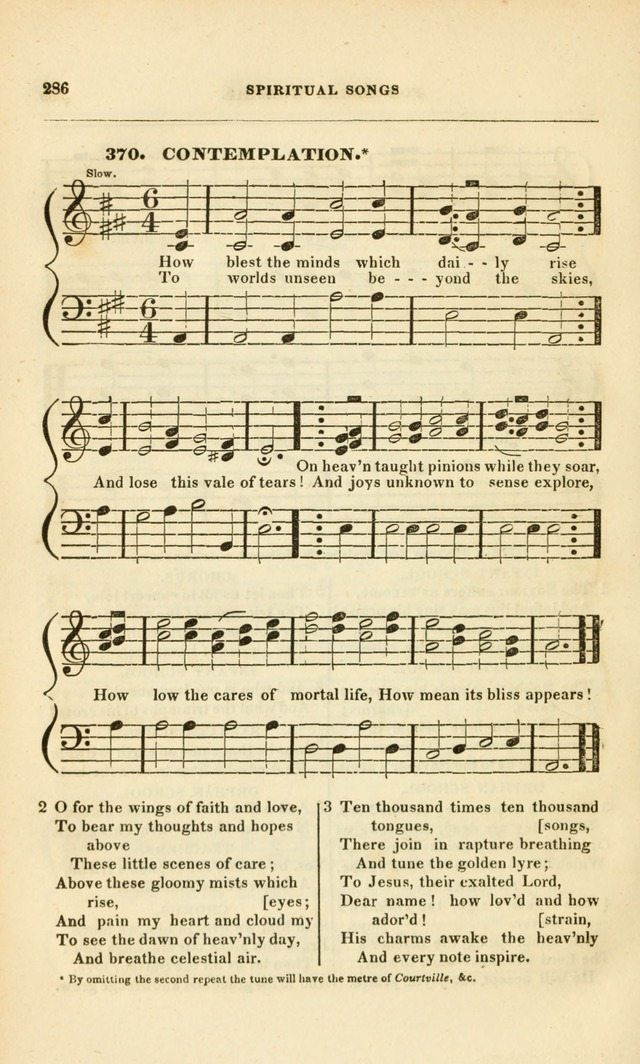 Spiritual Songs for Social Worship: adapted to the use of families and private circles, to missinary meetings, to monthly concert, and to other occasions of special interest.(Rev. and Enl. Ed.) page 286