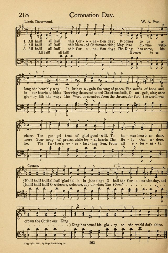 Sunday School Voices: a collection of sacred songs page 208