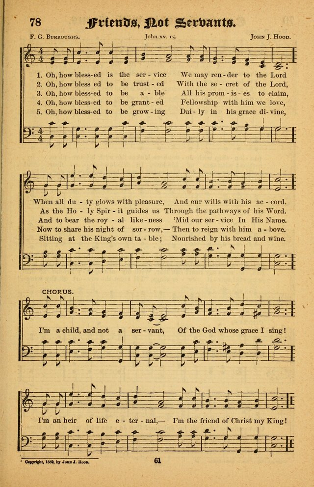 The Silver Trumpet: a collection of new and selected hymns; for use in public worship, revival services, prayer and social meetings, and Sunday schools page 61