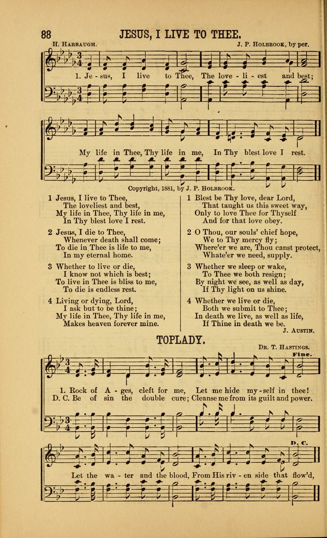 Singing on the Way: a collection of hymns and tunes for Sunday schools, social worship and congregations page 88