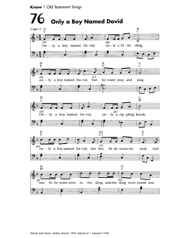 Only a Boy Named David | Hymnary.org