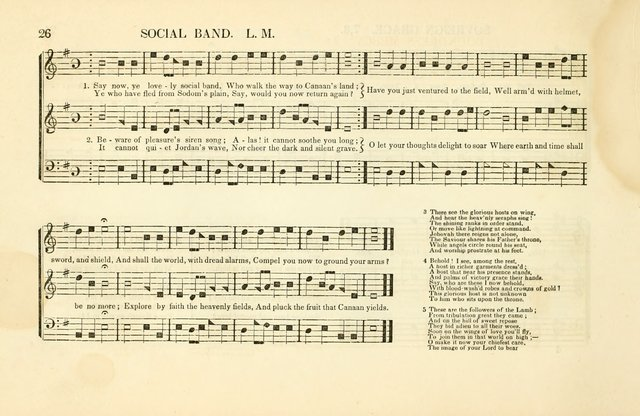 Southern and Western Pocket Harmonist: intended as an appendix to Southern Harmony; embracing the principle hymns, songs, choruses and revival tunes, usually sung at protracted and campmeetings... page 33