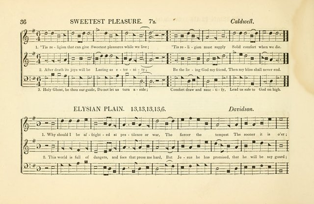 Southern and Western Pocket Harmonist: intended as an appendix to Southern Harmony; embracing the principle hymns, songs, choruses and revival tunes, usually sung at protracted and campmeetings... page 43
